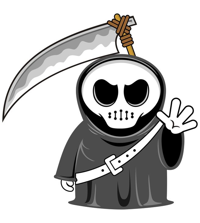 funny grim reaper with scythe