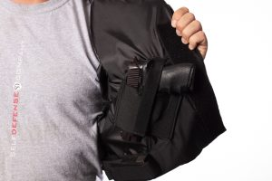 conceal carry back up bulletproof jacket right