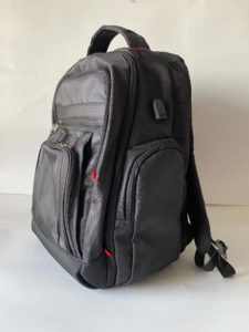 switchblade bulletproof backpack in sideview by Bodyguard